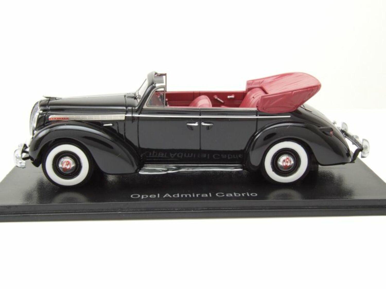 Opel Admiral Limousine Schwarz 1937-1939 Inkl Zeitschrift Nr 56 1//43 Ixo Model..