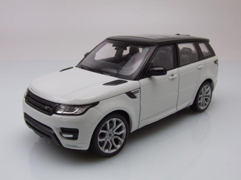 land rover range rover sport 2015 blanco/negro, coche modelo 1:24
