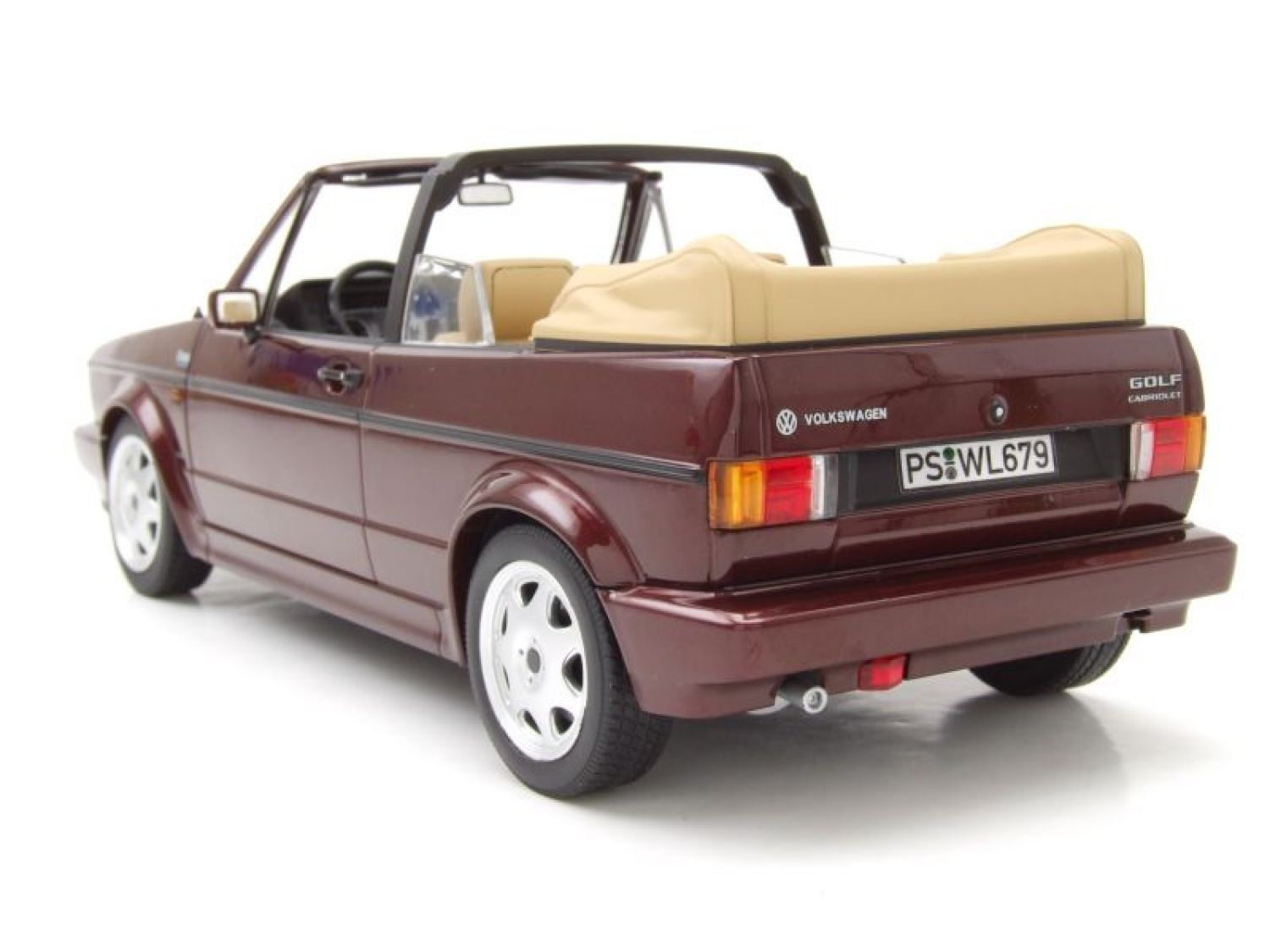 vw golf 1 cabrio classic line 1992 rojo met lico coche. Black Bedroom Furniture Sets. Home Design Ideas