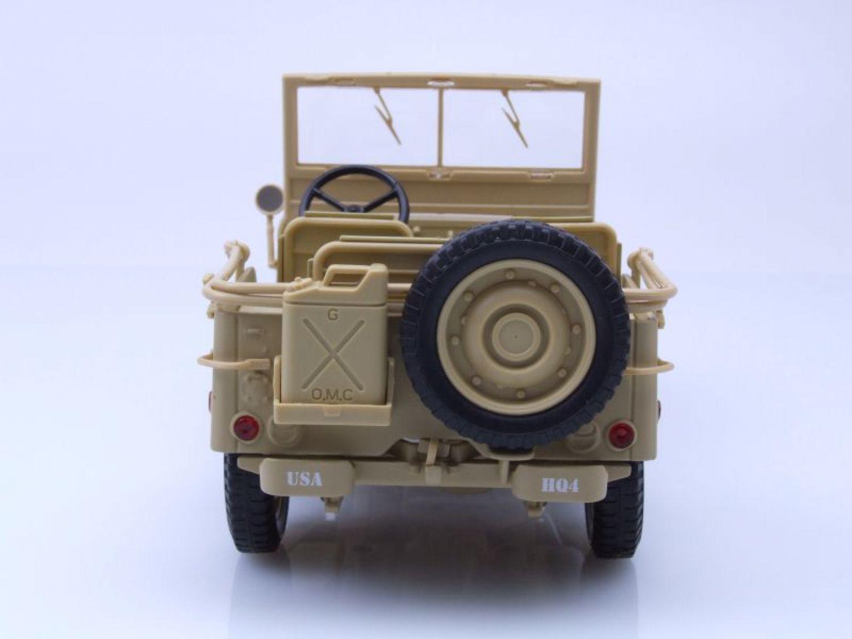 willys jeep arm e am ricaine casablanca 1943 sable beige mod le de voiture 1 ebay. Black Bedroom Furniture Sets. Home Design Ideas