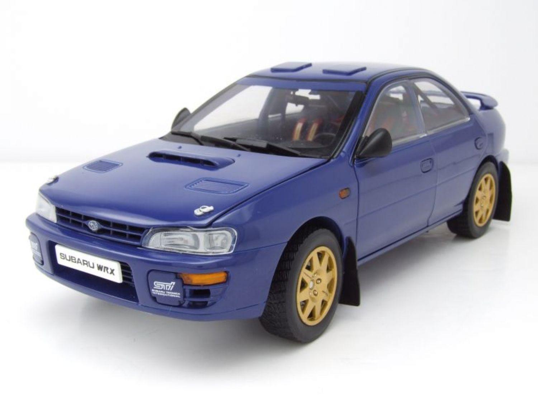 Subaru Impreza STI WRX Street Car 1996 blau, Modellauto 1:18 / Sun ...