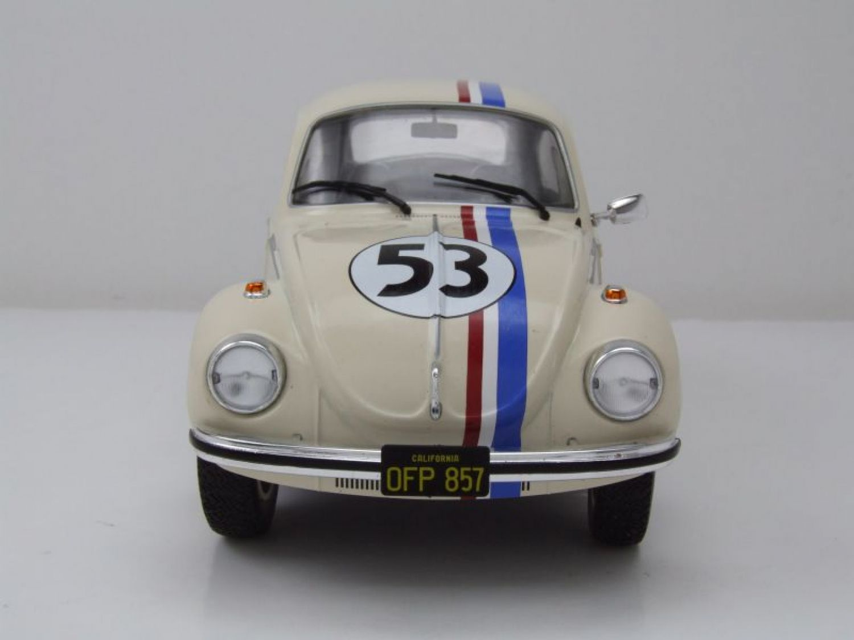 VW Escarabajo 1303 #53 beige Herbie similar a coche modelo 1:18 solido