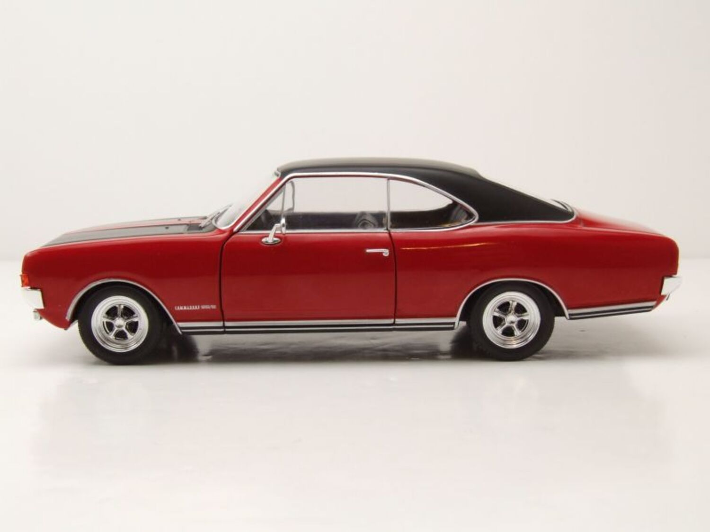 68149 Whitebox 124035 OPEL Commodore A GS Rosso modello di auto 1:24 NUOVO IN SCATOLA ORIGINALE