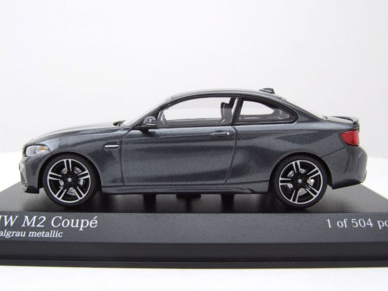 bmw m2 coupe 2016 grau metallic modellauto 1 43. Black Bedroom Furniture Sets. Home Design Ideas