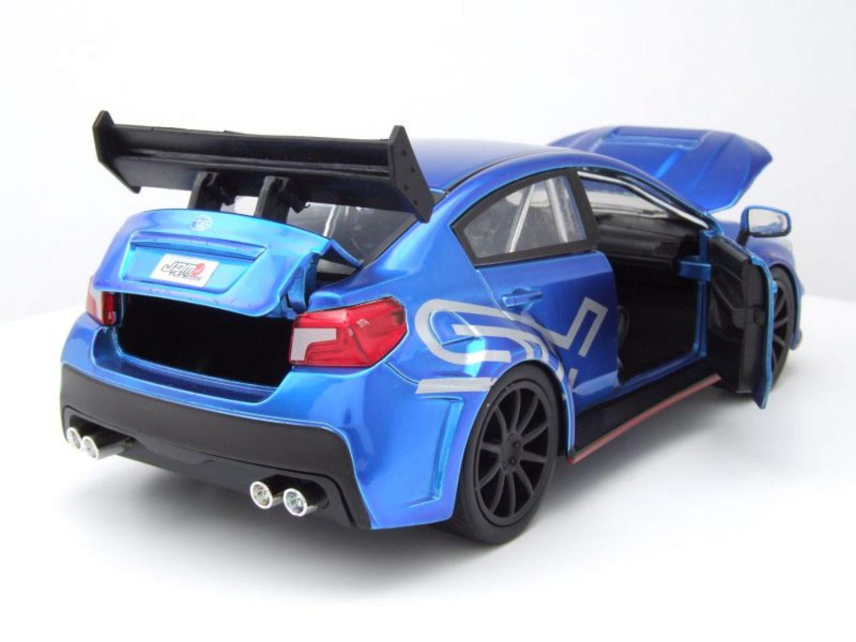 Subaru WRX STI widebody JDM tuners 2016 AZUL, Coche a escala 1:24 ...