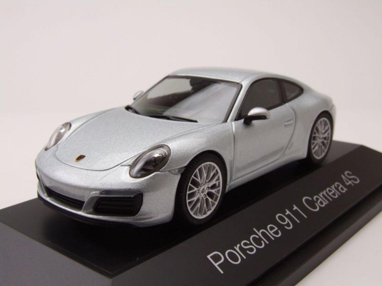 PORSCHE 911 (991) Carrera 4s 2012 PLATA, Coche Modelo 1:43 / Herpa ...