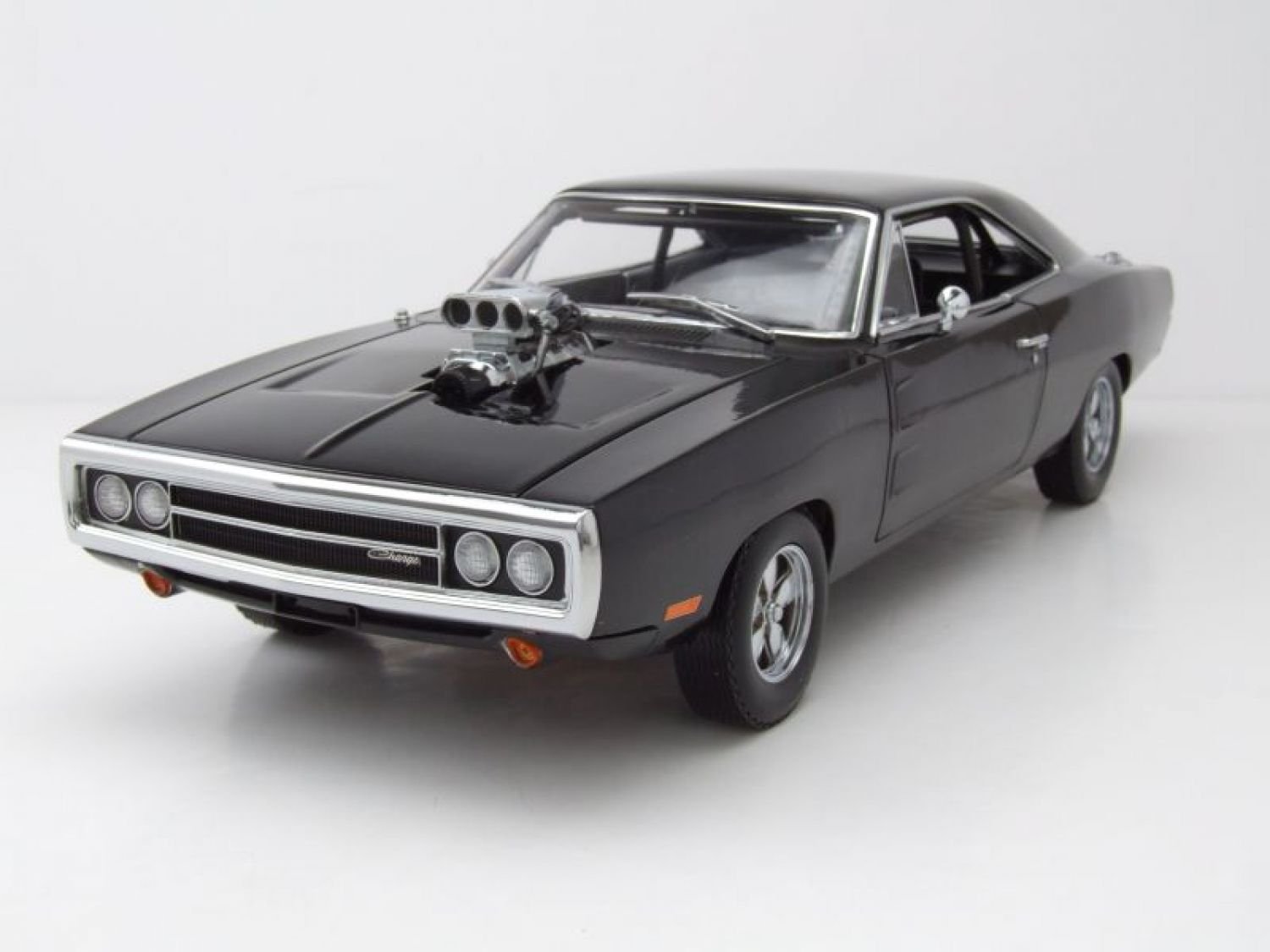 dodge charger r t 1970 schwarz fast furious modellauto. Black Bedroom Furniture Sets. Home Design Ideas
