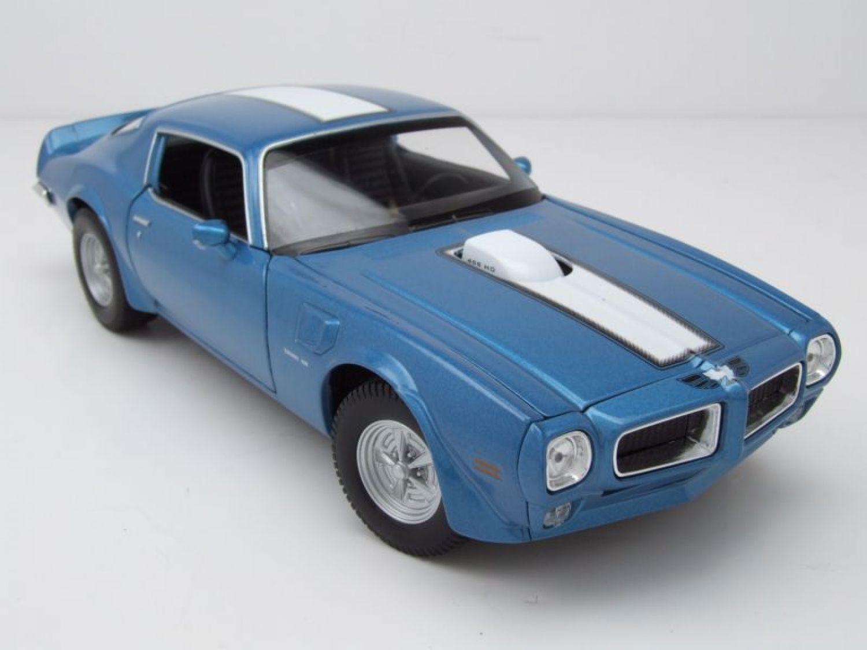 Pontiac Firebird Trans Am 1972 nero modello di auto 1:18//Welly