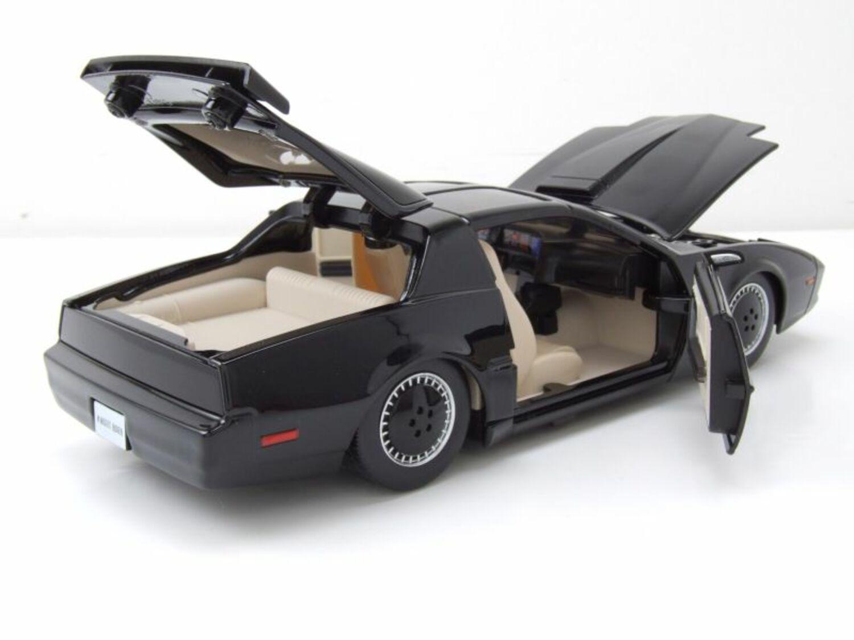 w.e.t.t Pontiac Firebird KITT KNIGHT RIDER k.i.c.s con scanner modello di auto 1:24 Jada