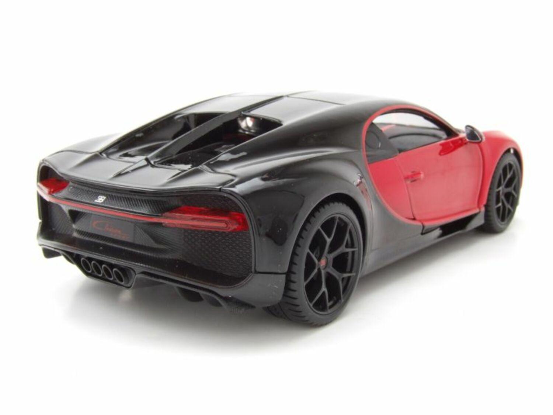 Bugatti chiron Sport 2018 rojo negro maqueta de coche 1:24 maisto