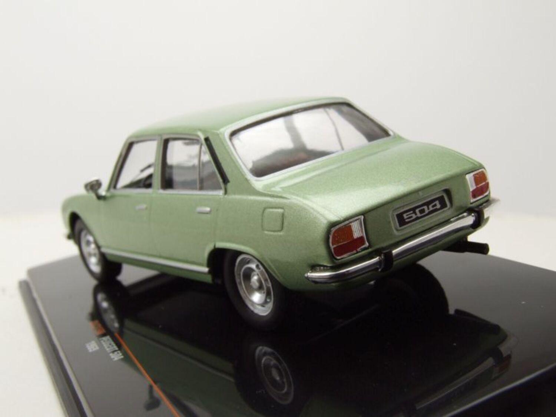 Peugeot 504 1969 verde metalizado 1:43 Ixo clc319n nuevo embalaje original /&