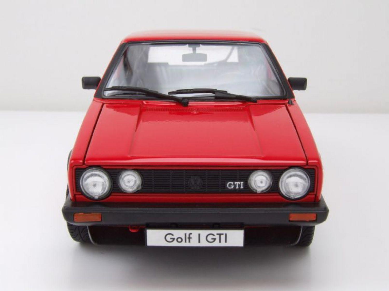 vw golf 1 gti pirelli rot modellauto 1 18 welly ebay. Black Bedroom Furniture Sets. Home Design Ideas