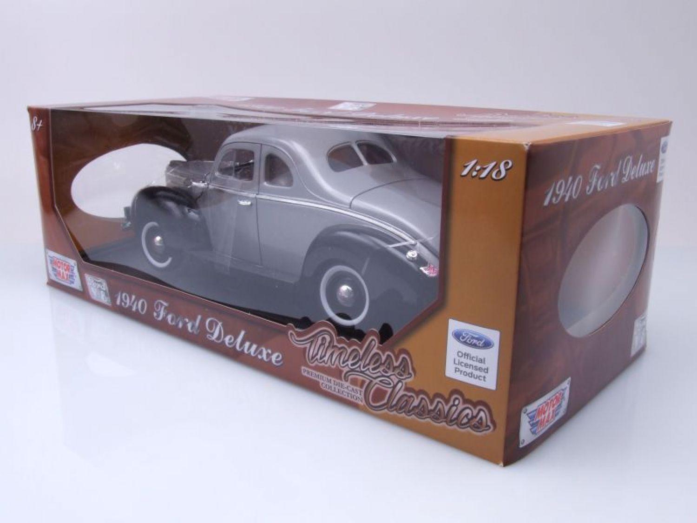 Ford Deluxe Coupe 1940 grau/schwarz, Modellauto 1:18 / Motormax   eBay