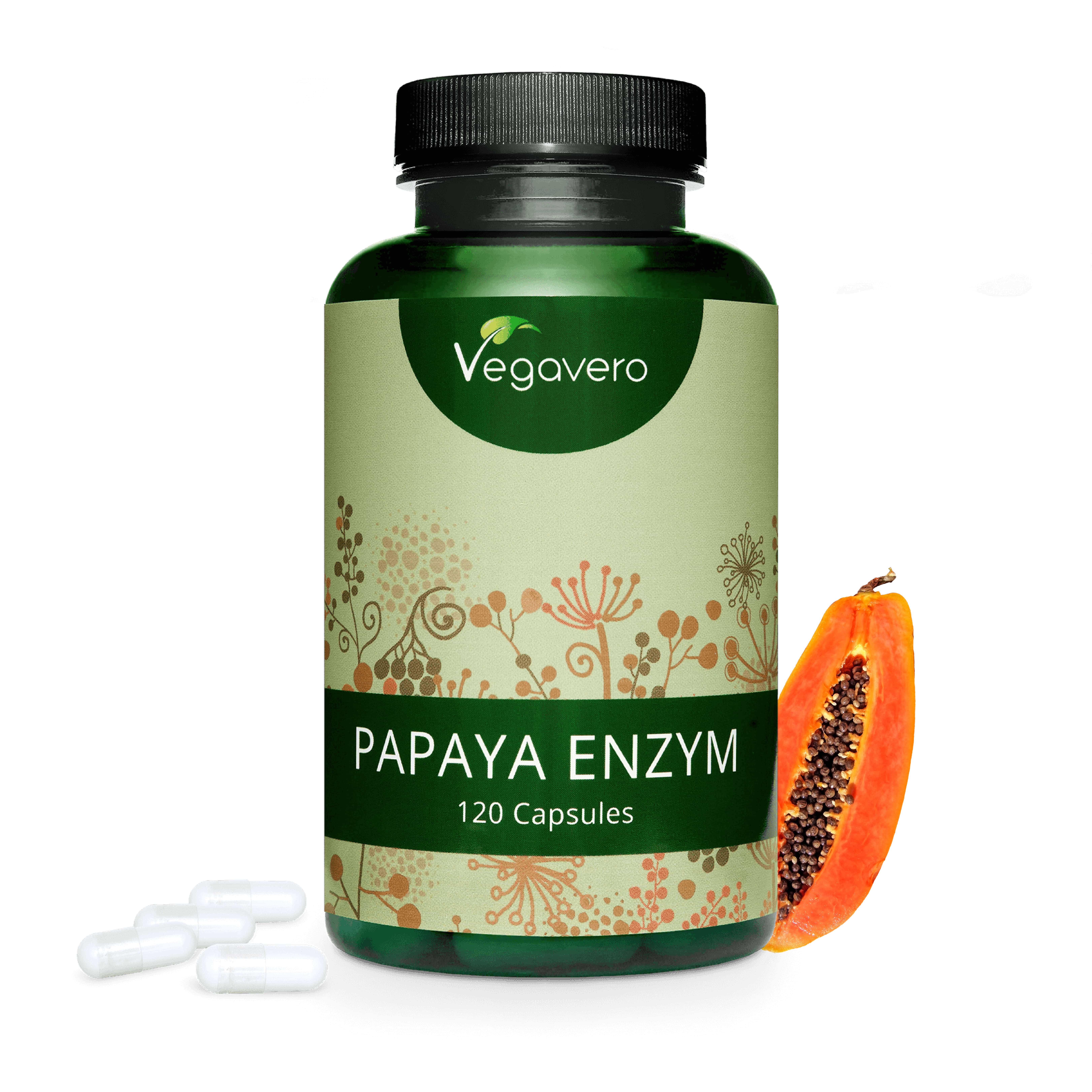 VEGAVERO® Papaya Enzym , 120 Kapseln (236,69 EUR/KG)