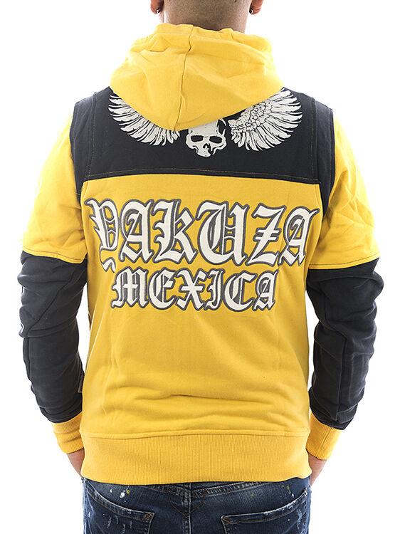 Details zu Yakuza Sweatshirt Mexica 13001 banana cream NEU Männer Herren Tattoo Hoodie