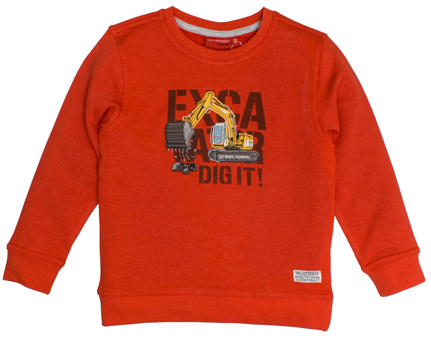 2aef0ea3bb Salt and Pepper Jungen - Huge Maschine Bagger Sweatshirt Orange | eBay