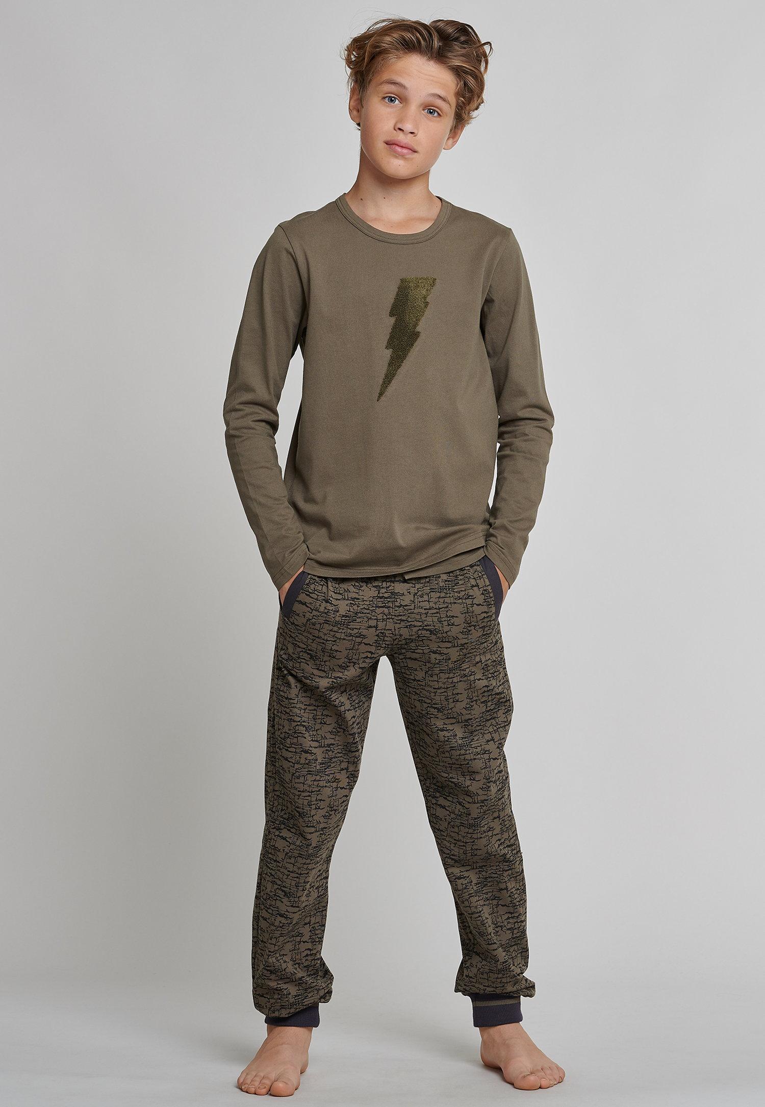 Schiesser Garçons décortiquer-pyjama série Mix /& Relax Olive Gratuit Sac à dos