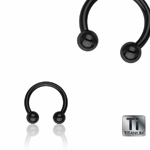 Neu Titan Intim Barbell Hufeisen Lippe Augenbrauen Piercing Ø 8mm// 1,2 Kugel 3mm
