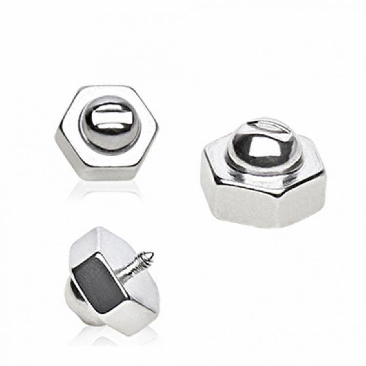 1,2mm Stern Titan Dermal Anchor Aufsatz Schwarz oder Gold Anker Surface Piercing