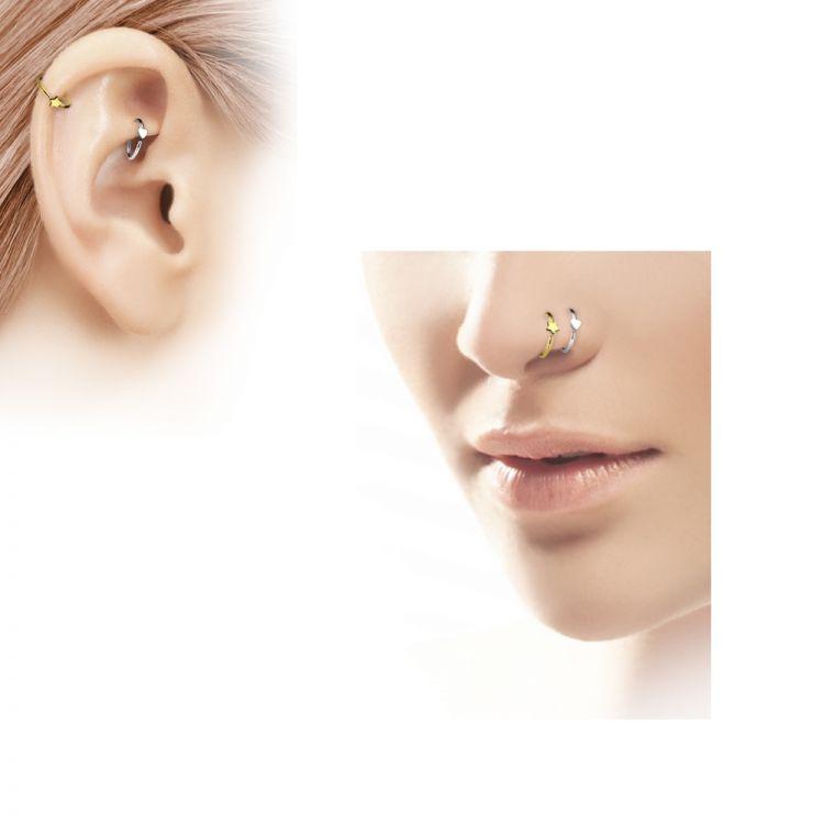Unter Der Voraussetzung Piercing Nase Ring Herz Mehrfarbig Piercingschmuck