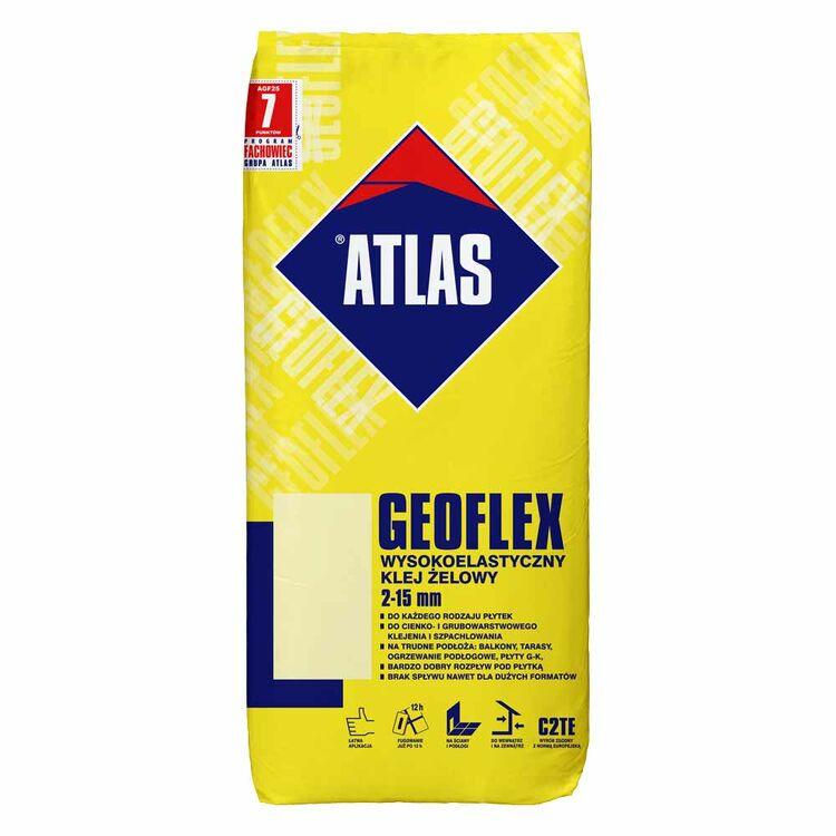 Fliesenkleber Flexkleber innen aussen Bodenheizung Fliesen 100x100 C2TE S1 ATLAS Geoflex Ultra 25Kg