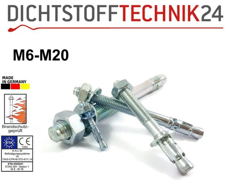 Edelstahl A4 V4A rostfrei Schwerlastd/übel Eisenwaren2000 M8 x 90//25 mm Bolzenanker 1 St/ück - ETA-Zulassung