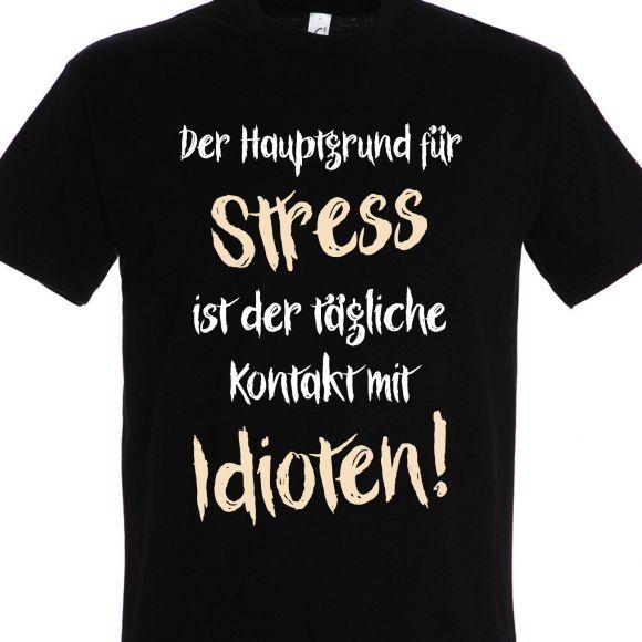 Herren T Shirt Idioten Spruch Zitat Lustig Witzig Fun Einstein Bose