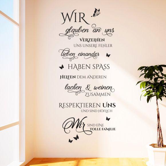 Details zu Wandtattoo Wir sind eine tolle Familie | Spruch, Zitat,  Wandaufkleber Wohnzimmer