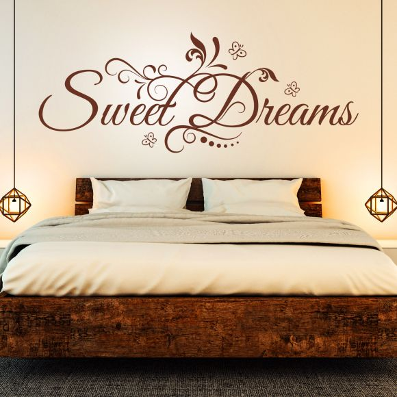 Wandtattoo Spruch  Sweet Dreams süße Träume Sticker Wandaufkleber Wandsticker 4