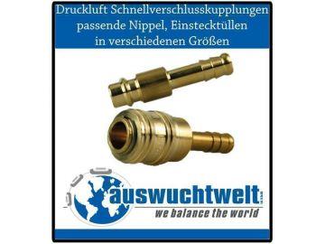 13 mm 9-10 Druckluftkupplung und Stecker Set verschiedene Größen 6-8