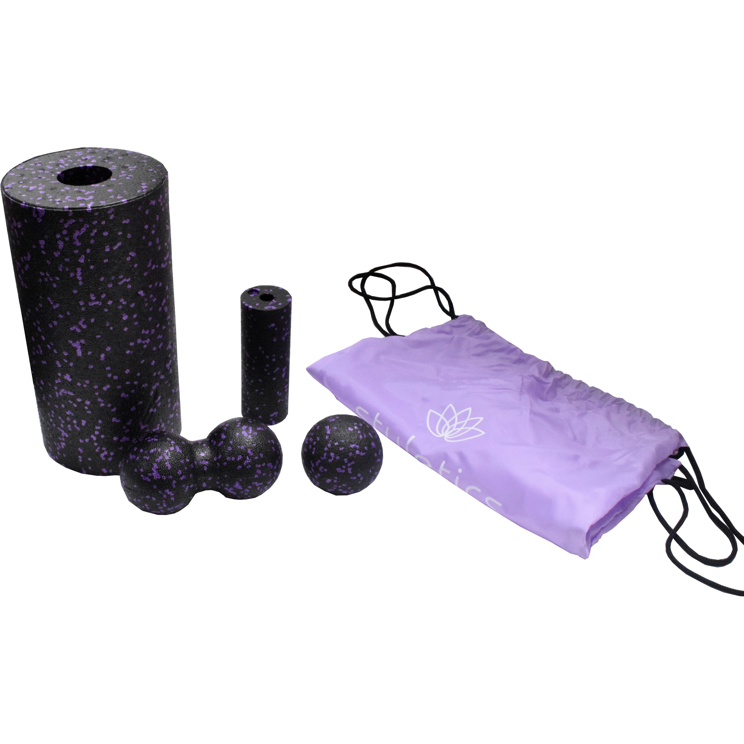 Faszienset-Faszienrolle-Faszienkugel-Massagerolle-Yoga-Physio-Muskelentspannung Indexbild 14