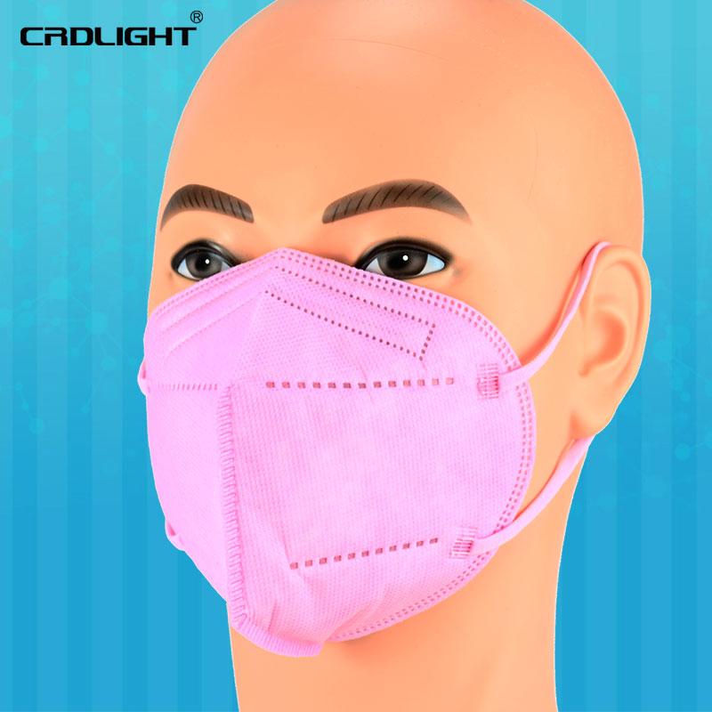 Indexbild 22 - 1 - 1000 FFP2 Atemschutzmasken farbiger Mundschutz 5-lagig CE2163 CRDLIGHT