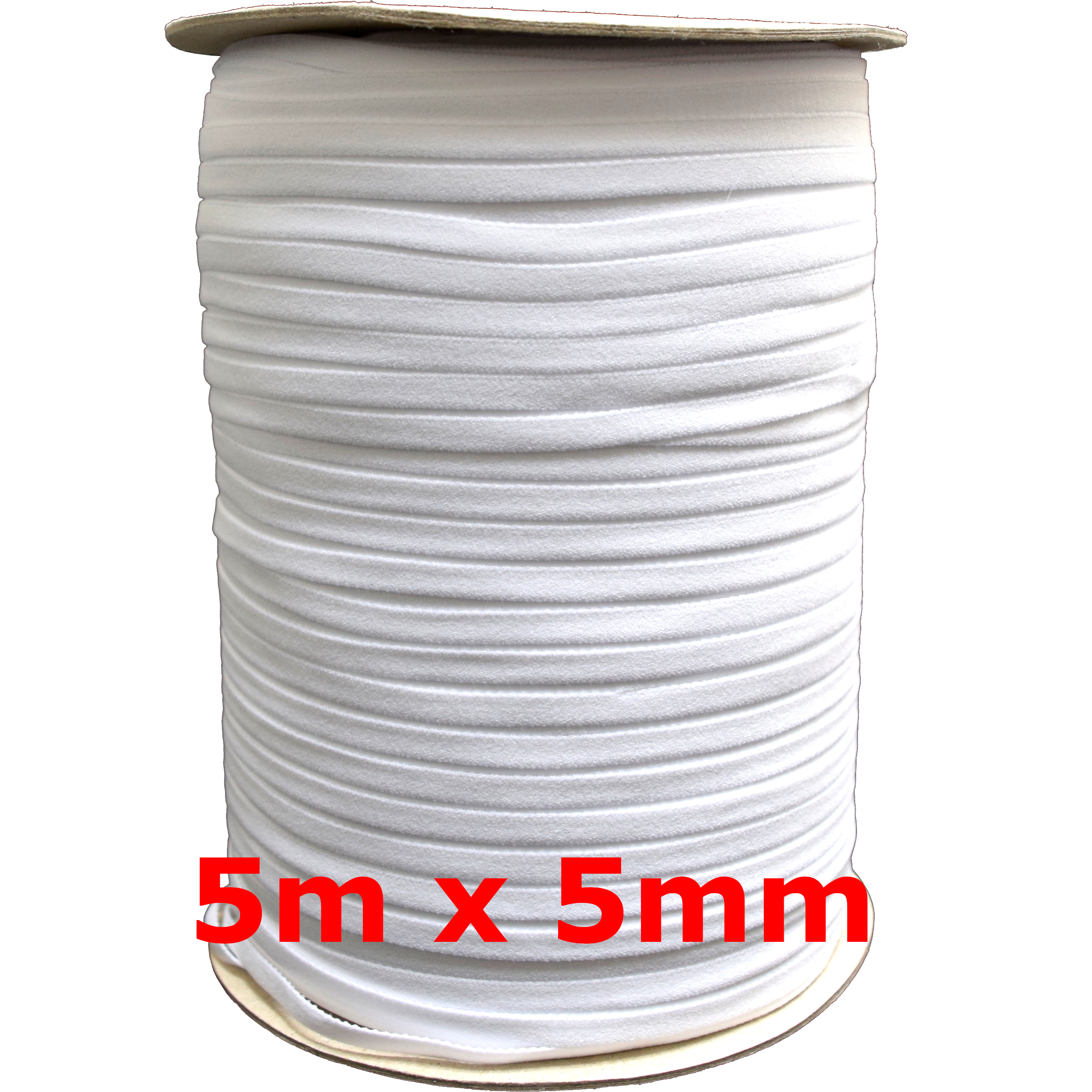 5m-x-3mm-5mm-6mm-Gummiband-kochfest-leichter-Zug-Gummilitze-schwarz-weiss-Maske Indexbild 8
