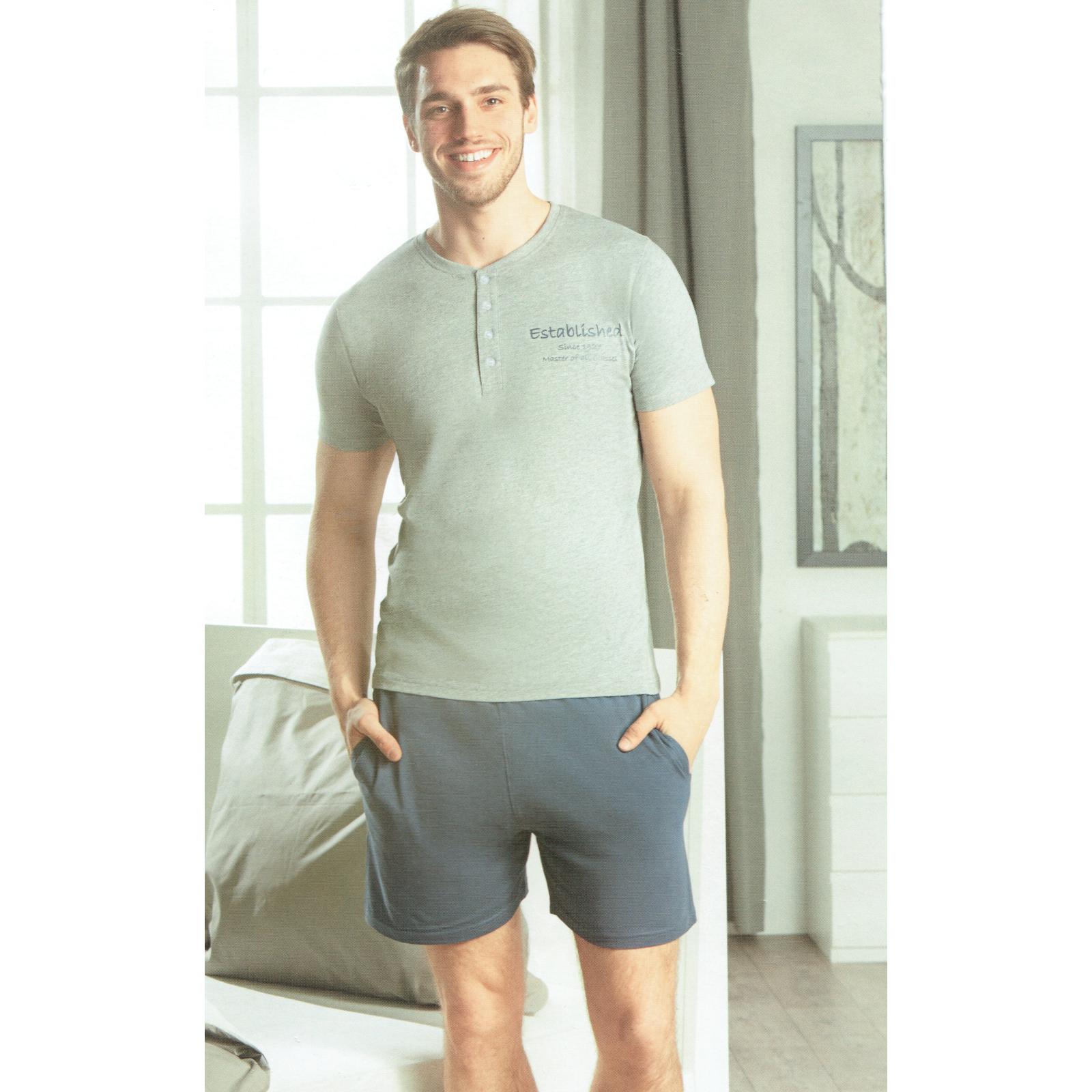 Herren-Schlafhose-Schlafanzug-Pyjama-Shorty-100-Baumwolle-Nachtwaesche-gewebt Indexbild 16