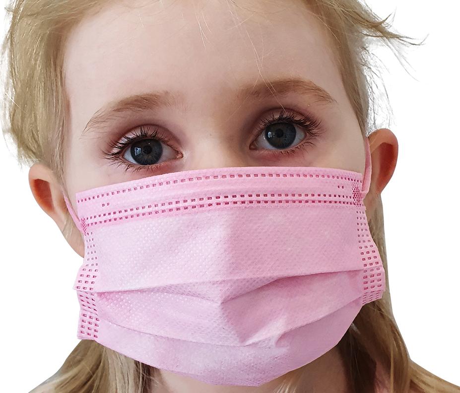 Indexbild 20 - 50 Kindermasken medizinisch oder Mund-Nasen-Bedeckung Mundschutz Einweg 3 Lagig