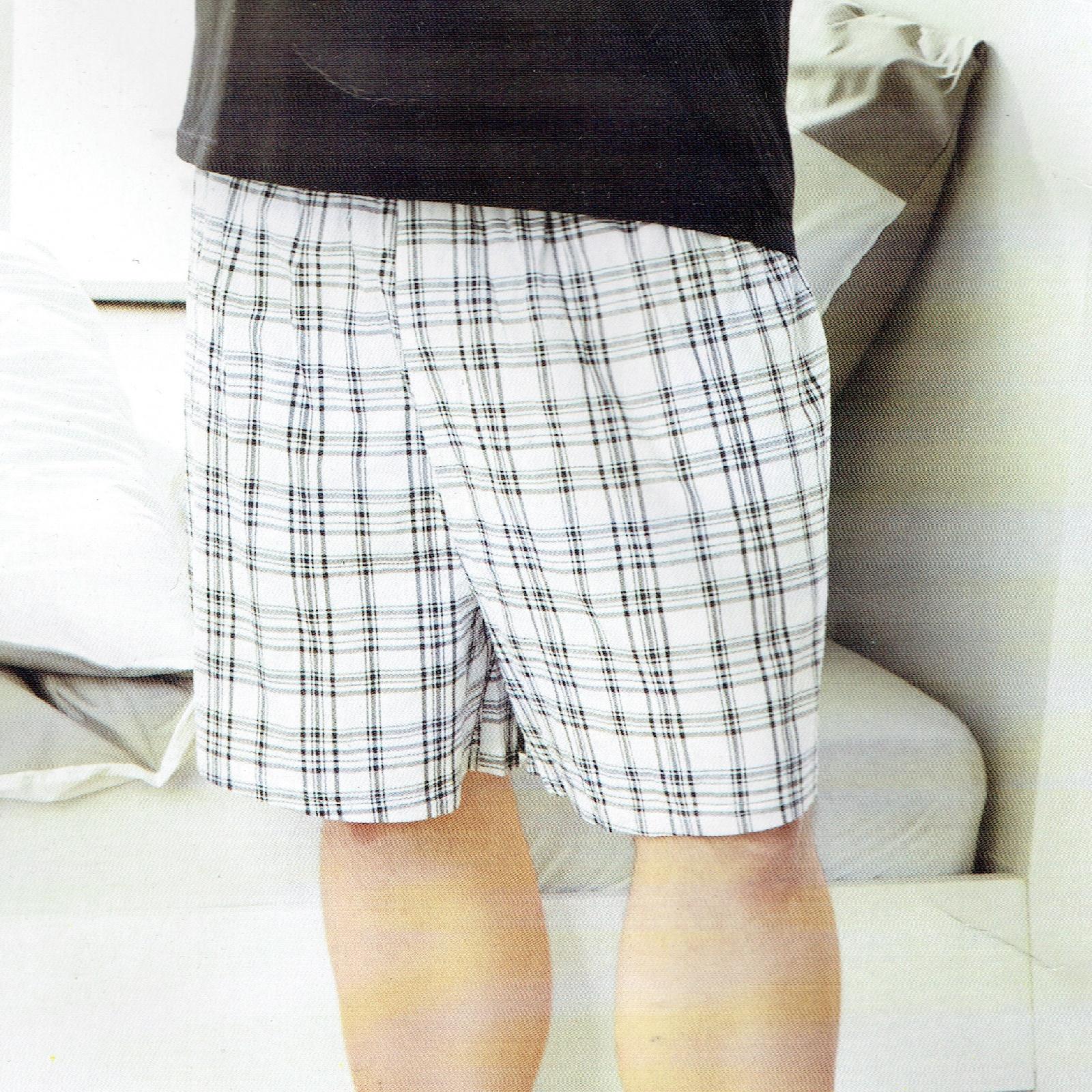 Herren-Schlafhose-Schlafanzug-Pyjama-Shorty-100-Baumwolle-Nachtwaesche-gewebt Indexbild 28