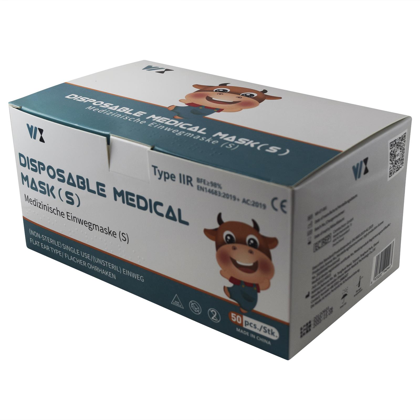Indexbild 27 - 50 Kindermasken medizinisch oder Mund-Nasen-Bedeckung Mundschutz Einweg 3 Lagig