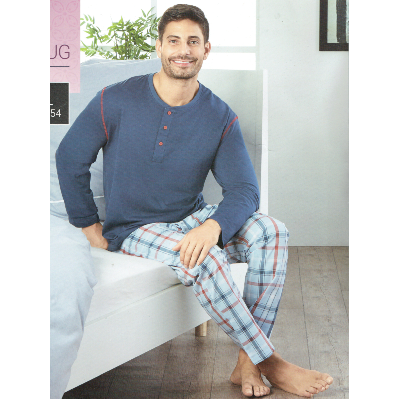Herren-Schlafhose-Schlafanzug-Pyjama-Shorty-100-Baumwolle-Nachtwaesche-gewebt Indexbild 14