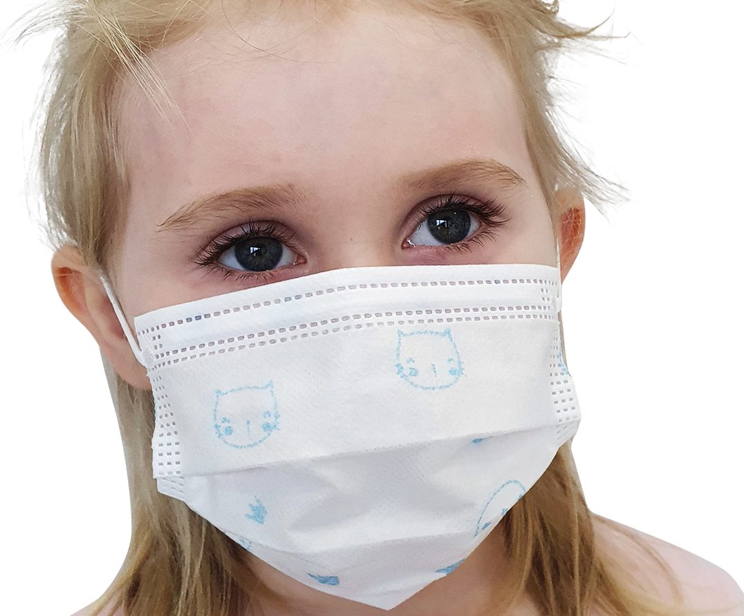 Indexbild 16 - 50 Kindermasken medizinisch oder Mund-Nasen-Bedeckung Mundschutz Einweg 3 Lagig
