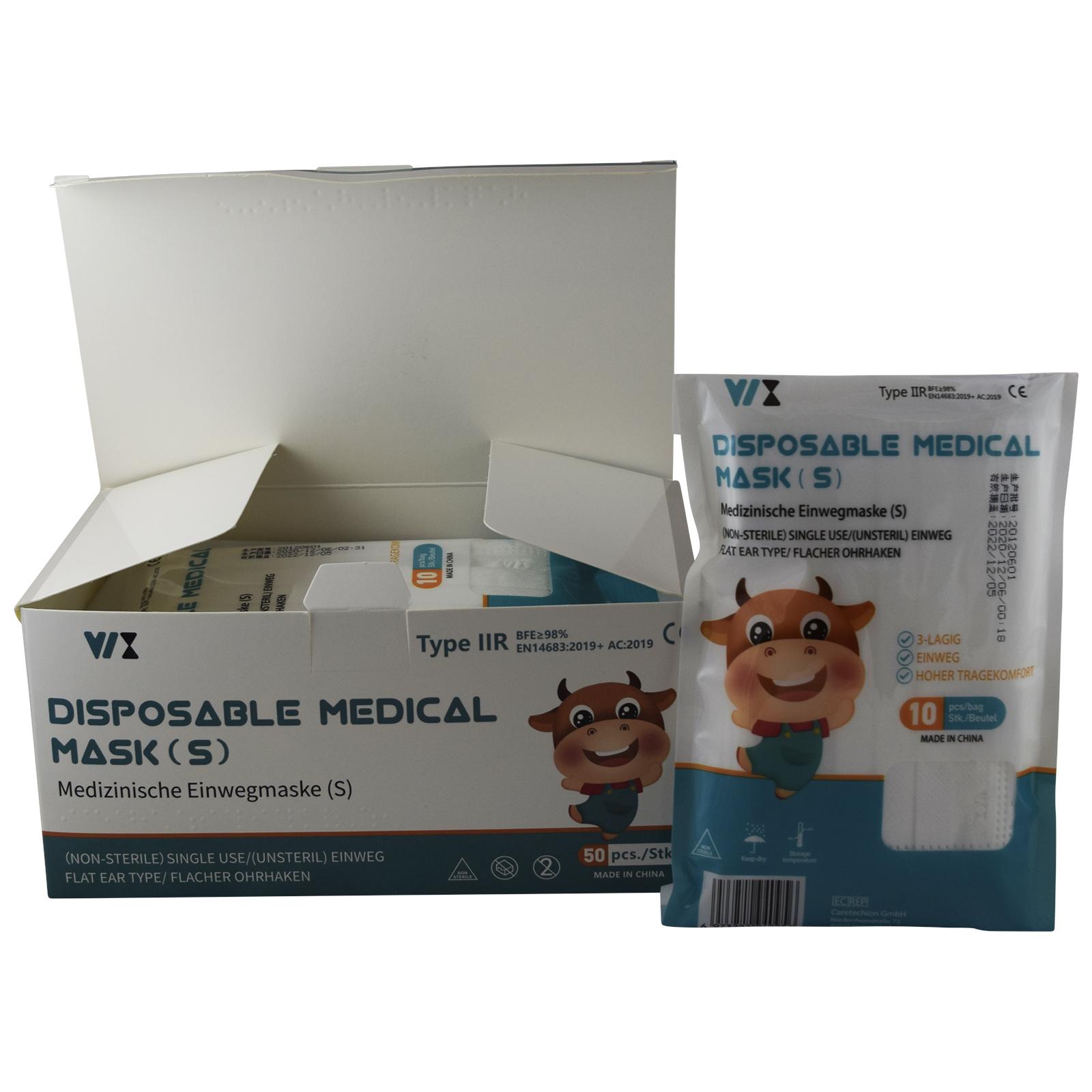 Indexbild 26 - 50 Kindermasken medizinisch oder Mund-Nasen-Bedeckung Mundschutz Einweg 3 Lagig