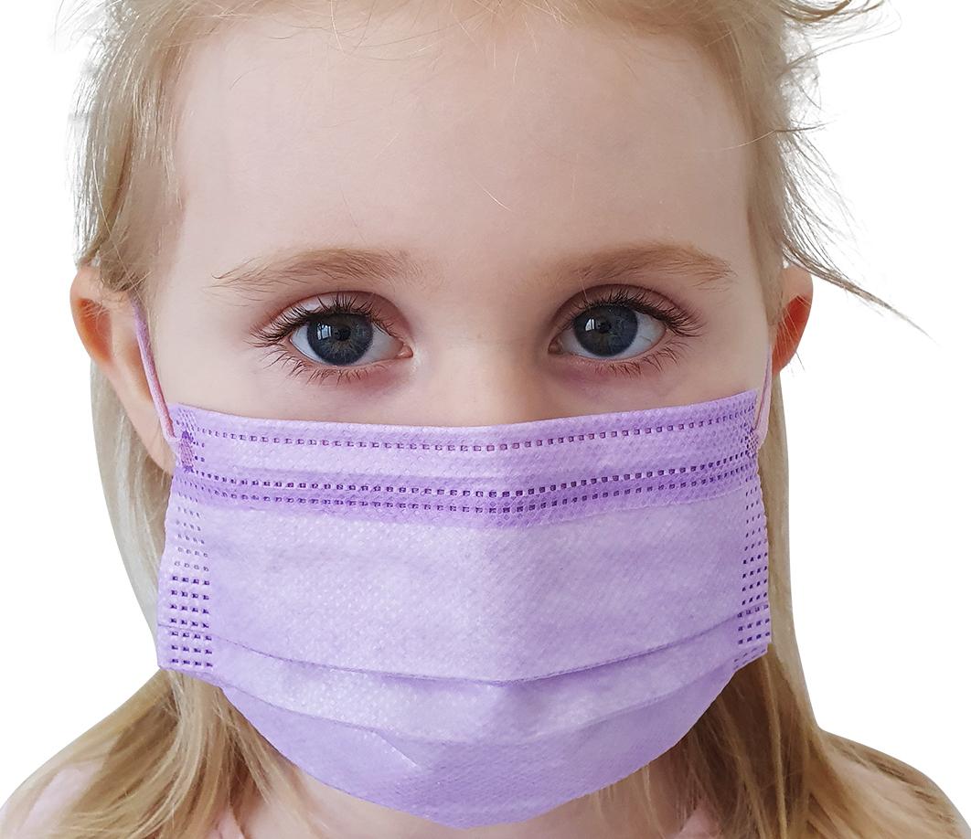 Indexbild 12 - 50 Kindermasken medizinisch oder Mund-Nasen-Bedeckung Mundschutz Einweg 3 Lagig