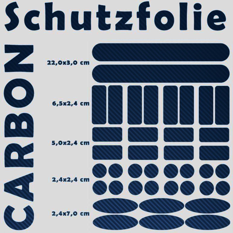 Rahmenschutz Folie Carbon Schutz Aufkleber Rahmen MTB 40 teilig ...