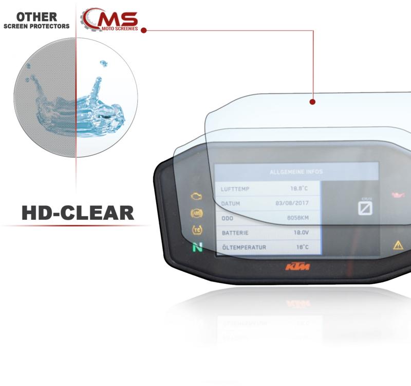 R1200R RS 2015 Displayschutzfolie Tachoschutzfolie Screen Protector 2 x Ultra Klar /& 2 x Entspiegelt