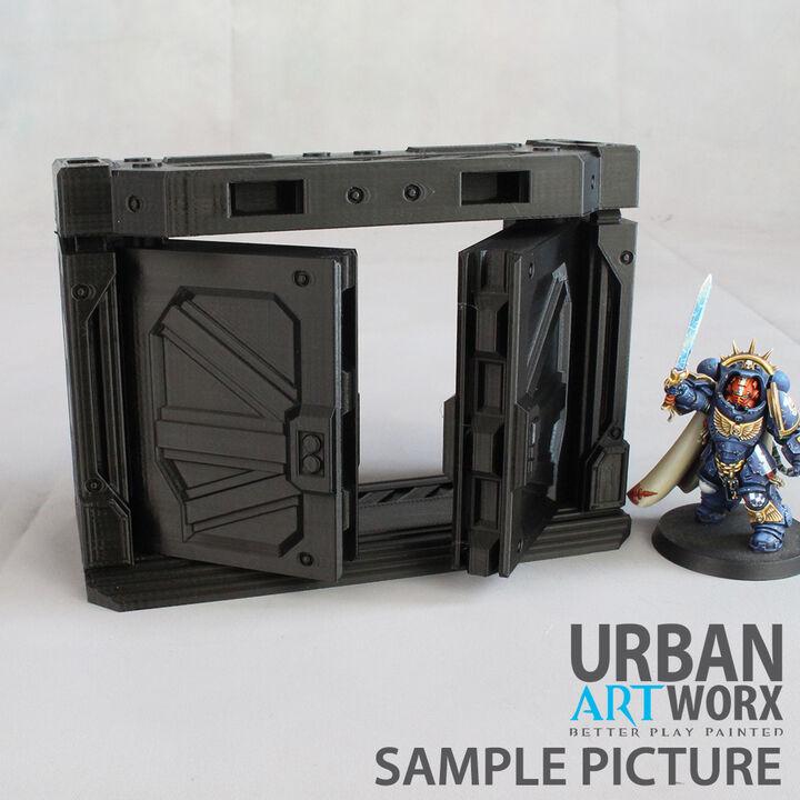 Sector Fatalis double Doorway à vantail Warhammer 40.000//necromunda Terrain