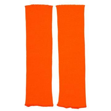 80er Stulpen orange Beinstulpen neonorange leuchtende Beinwärmer Aerobic Disko