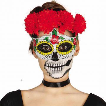 Mexikanische Totenmaske Augenmaske Sugar Skull Motiv Halloween