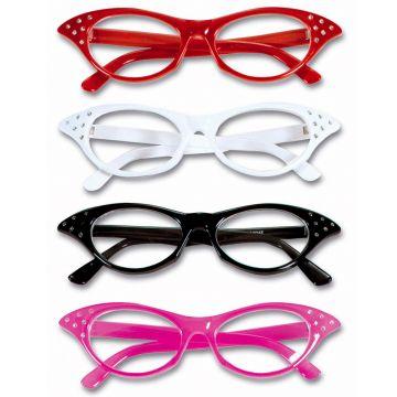 Pin Up Girl Partybrille 50er Jahre Rockabilly Brille Vintage Faschingsbrille