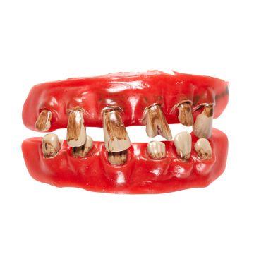 Schwarze Zähne Gammelzähne faules Fake Gebiss künstliches