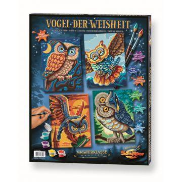 Details Zu Vogel Der Weisheit Malen Nach Zahlen Schipper Quattro Je 18 X 24 Cm Tier Eule