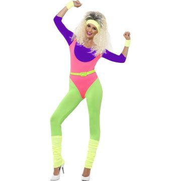 Neon Aerobic Outfit Xs 32 34 80er Damen Kostum Sport 80s Workout